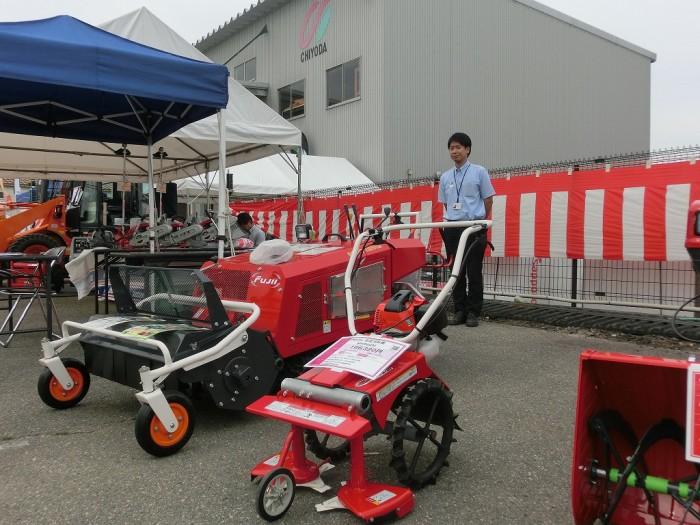 フジイコーポレーション(株)さま ロータリ除雪機、自走式草刈機を出展です!