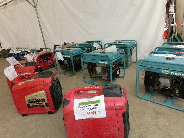 小型エンジン発電機も各種取り揃えております!